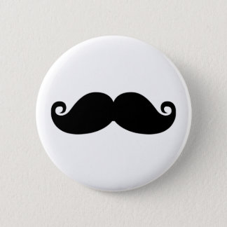 A funny vintage black mustache fashion design. 2 inch round button