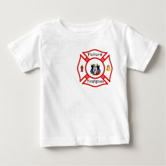 A Future Firefighter Red Maltese Baby T-Shirt