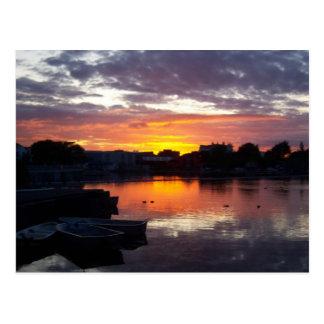 A Galway Sunset Postcard