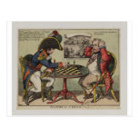A Game At Chess Post Card