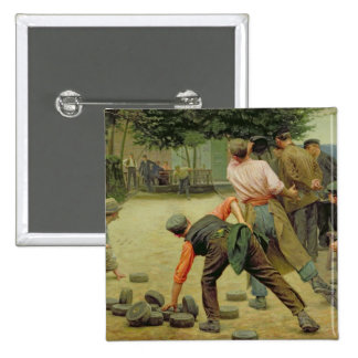 A Game of Bourles in Flanders, 1911 2 Inch Square Button