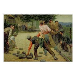 A Game of Bourles in Flanders, 1911 Poster