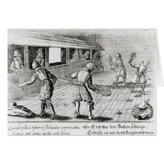 A Game of Real Tennis with Sport Ballads below Card