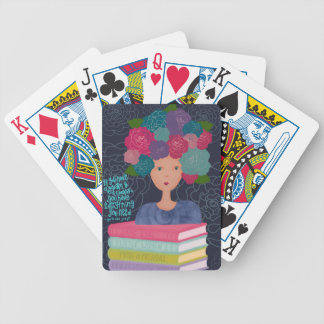 A Garden and a Library Bicycle Playing Cards