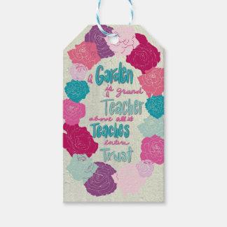A Garden is a teacher Gift Tags