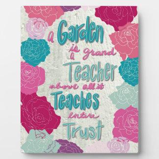 A Garden is a teacher Plaque
