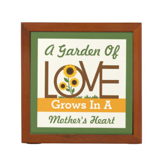 A Garden of Love Grows in a Mother's Heart Desk Organizers