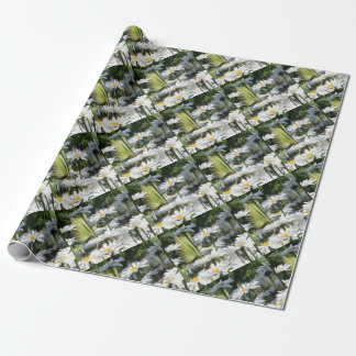 A Garden of White Daisy Flowers Wrapping Paper