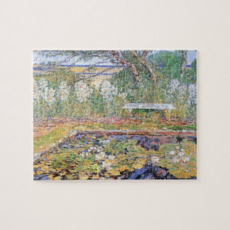 A Garden on Long Island by Childe Hassam Jigsaw Puzzle