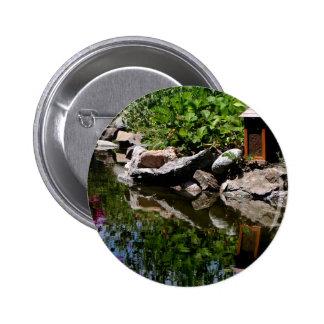 A Garden Pond in Summer 2 Inch Round Button