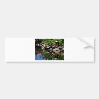 A Garden Pond in Summer Bumper Sticker