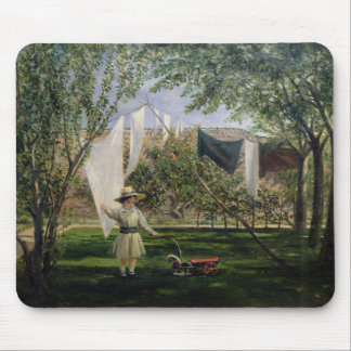 A Garden Scene, with a boy Mouse Pad