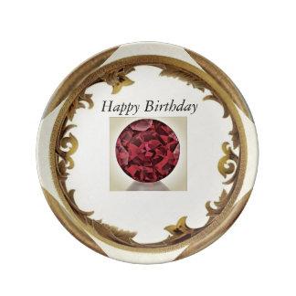 A Garnet Birthday Plate