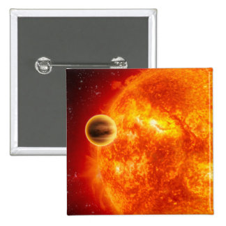 A gas-giant exoplanet 2 inch square button