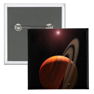 A gas giant planet orbiting a red dwarf 2 inch square button