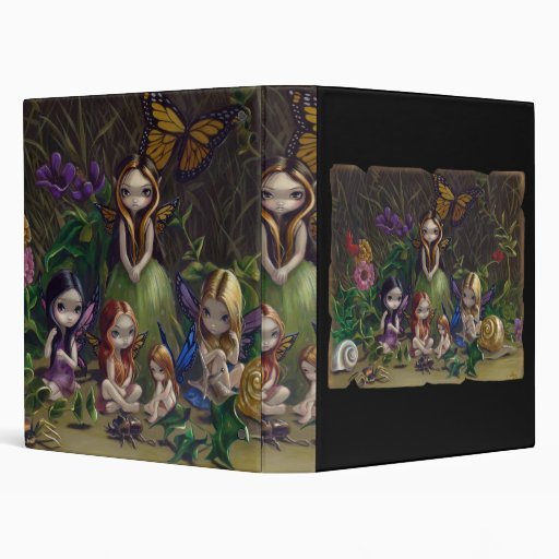 A Gathering of Faeries gothic fairy art Binder