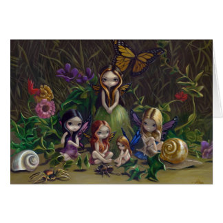 """A Gathering of Faeries"" Greeting Card"