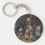 """""""A Gathering of Faeries"""" Keychain"""