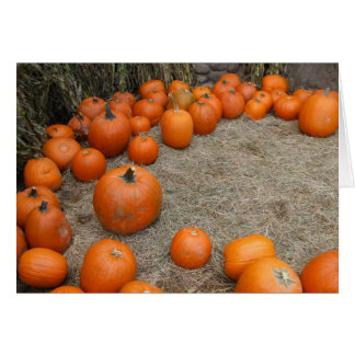 A Gathering of Pumpkins Card