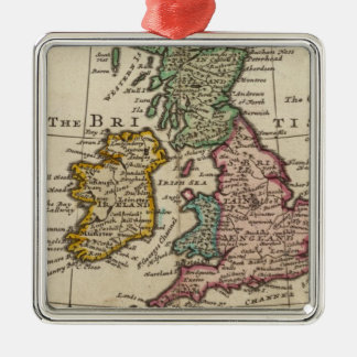 A general map of Great Britain and Ireland Metal Ornament