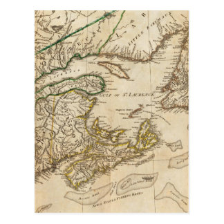 A General Map of the Northern British Colonies Postcard