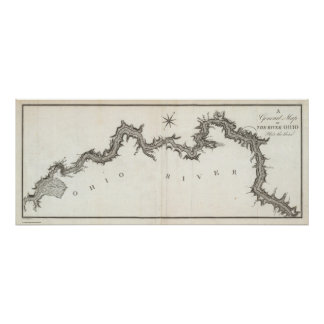 A General Map of the River Ohio, Plate the third Poster