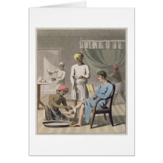 A Gentleman Dressing, attended by his Head Bearer, Greeting Card