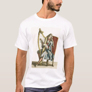 A gentleman playing the harp (engraving) T-Shirt