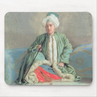 A Gentleman Seated on a Couch Mouse Pad