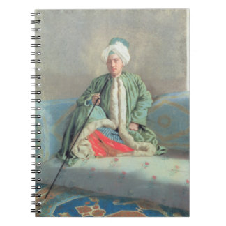 A Gentleman Seated on a Couch Spiral Notebook