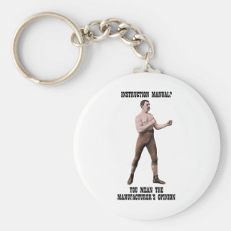 A Genuine Overly Manly Man Keychain