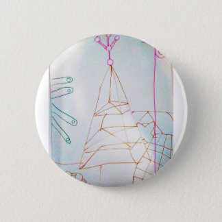 A Geometers Glass Bead Game 2 Inch Round Button