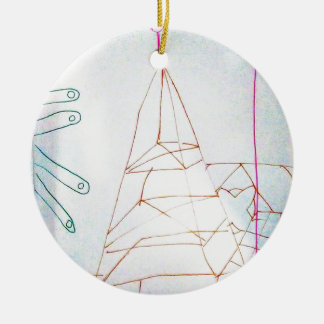 A Geometers Glass Bead Game Ceramic Ornament
