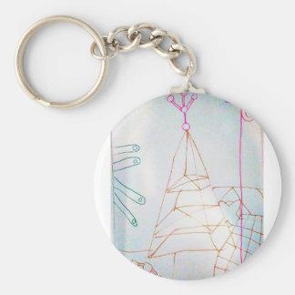 A Geometers Glass Bead Game Keychain