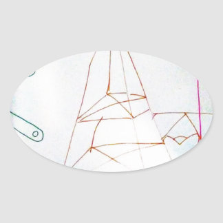 A Geometers Glass Bead Game Oval Sticker
