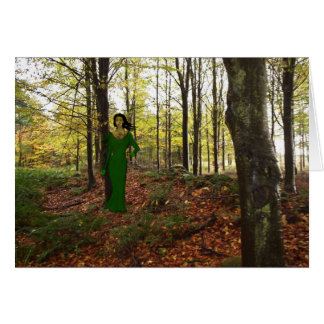 A ghost in the woods greeting card