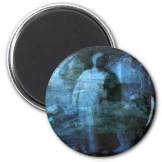A Ghostly Walk in the Dark 2 Inch Round Magnet
