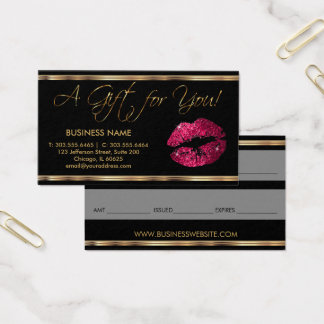 A Gift Certificate Hot Pink Lipstick Business