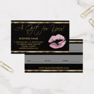 A Gift Certificate Pink Lipstick Business