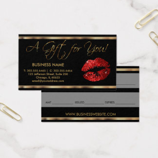 A Gift Certificate Red Lipstick Business