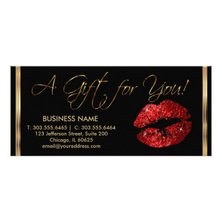 A Gift Certificate Red Lipstick Business 2 Rack Card