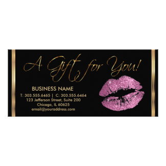 A Gift Certificate So Pink Lipstick Business 2 Customized Rack Card