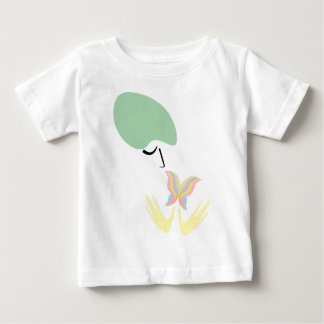 A girl and a butterfly baby T-Shirt