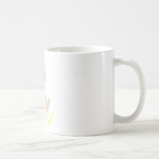 A girl and a butterfly coffee mug