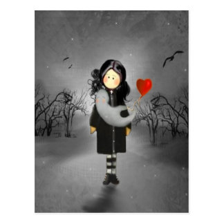 A Girl and a Ghost Postcard