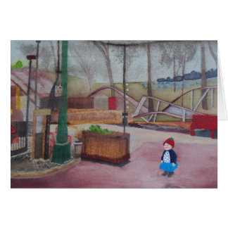 """A Girl and an Amusement Park ..."" Card"