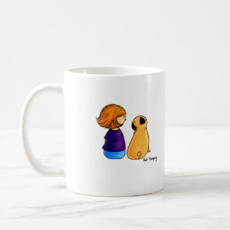 A Girl and Her Pug (blonde) Coffee Mug