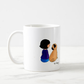 A Girl And Her Pug Coffee Mug