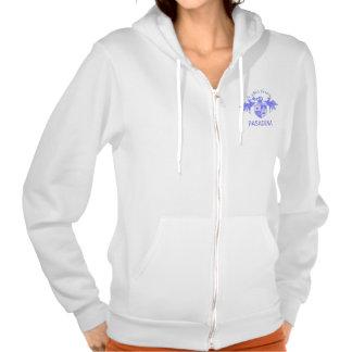 A Girl From PASADENA Logo Emblem Hooded Pullover