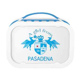 A Girl From PASADENA Logo Emblem Yubo Lunch Boxes